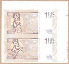 Europe 1 Euro 2014 Type B & C UNC SPECIMEN Test Note Banknote UNCUT Pair - Zeus