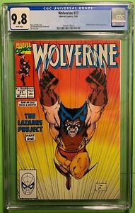 WOLVERINE #27 1st ONGOING SOLO  (7/'90) CGC 9.8 NM/M JIM LEE MARVEL COMICS WHITE