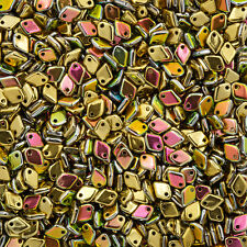 Dragon® Scale Czech Beads 5mm Jet California Blooming Meadow 9g Tube (M37/4)