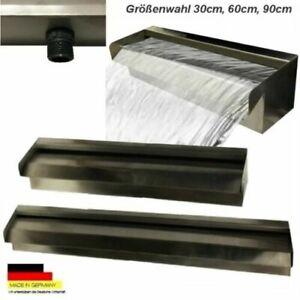 Edelstahl Wasserfall  Wasserspiel Kaskade V2A Made in Germany Auswahl 30,60,90cm