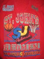 Vintage Thunder Island Label - ST JOHN'S REDMEN SJU (LG) Basketball V-Neck Shirt