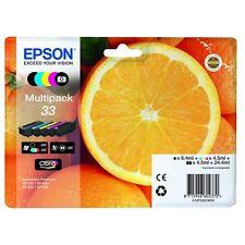 Genuine Epson 33 Multipack 5 Ink Cartridges for EPSON XP-635 Orange Full Set