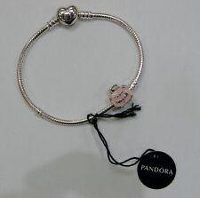 Pandora Sterling Silver Bracelet w/ Love Travels Charm - New w/ Box & Tag