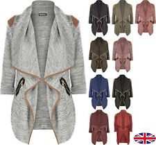 UK Plus Size 8-22 Womens Casual Knitted Long Sleeve Cardigan Jacket Tops Outwear
