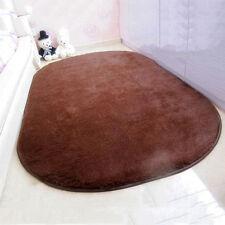 Washable Living Room Bedside Modern Oval Rug Super Comfortable Carpets H215 Wine Red 50*80cm