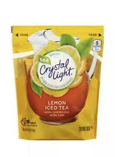 Crystal Light Lemon Iced Tea Drink Mix, 4.26 oz Pouch (16 Pk) Gift With Purchase