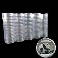 10Pcs Clear Plastic Coin Round Cases Storage Box Container Holder Supplies 40MM
