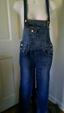 ALMOST FAMOUS SKINNY OVERALLS DISTRESSED BLUE DENIM WOMENS Sz 3 (28 X 30)