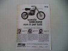advertising Pubblicità 1977 MOTO SIMONINI HARD RACE 125