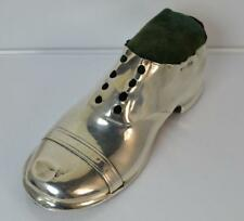 Edwardian Novelty Chester Silver Shoe Shaped Box Holder or Pin Cushion