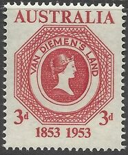 "Australia 1953 3d TASMANIA FIRST STAMP ""VAN DIEMENS LAND"" Centenary(1) MNH SG271"