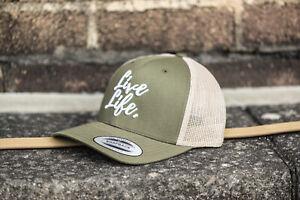 Khaki & Beige Trucker Hat