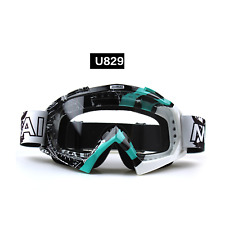 Blue motocross motorbike goggles anti-fog UV protection MX dirt PIT trail bike