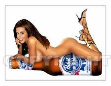 Fridge Magnet Sexy Pabst Pbr beer sexy beer bottle babe bar art decor