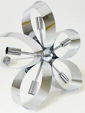 LUSTRE PLAFONNIER MARGUERITE CHROME 1970 VINTAGE SPACE AGE POP VTG 70S LIGHT