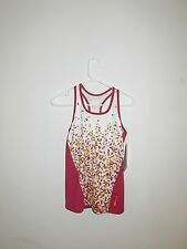 Sugoi Bright Rose Dot Racer Tank Size M New