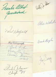 8 PC LOT:  FOOTBALL NFL Stars of yesteryear  Signatures SIGNED Separately