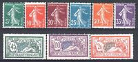 FRANCE ANNEE COMPLETE 1907 YVERT 137/145 , 9 TIMBRES NEUFS xx TTB   M882