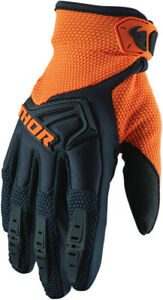 Thor 2020 Youth Spectrum Motorcycle Gloves Midnight/Orange All Sizes
