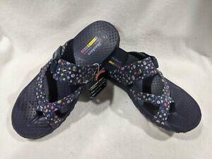 Skechers Women's Reggae Ditzsy Bloom Navy/Multi Sandals - Size 7/8/9/10/11 NWB