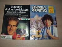 GUERIN SPORTIVO=N.28 1984=ASSENTE POSTER MARADONA=AGENDA DELLO SPORT=FILM EUROPE