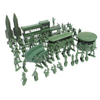 56pcs Action Figures 5cm Army Men Soldier Playset w/ Assorted Military Accss