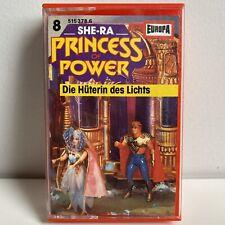 "SHE-RA ""PRINCESS OF POWER"" GERMAN CASETTE #8 DIE HUTERIN DES LICHTS"