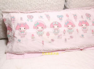 Anime Pink Kawaii Bowknot Stripes My Melody Pillow Case Cover Pillowslip 1pc