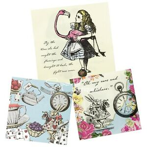 Truly Alice in Wonderland PAPER NAPKINS x20-Mad Hatters Tea Party- RANGE IN SHOP