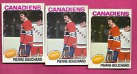 3 X 1975-76 OPC # 304 CANADIENS PIERRE BOUCHARD  CARD  (INV# C4745)
