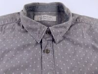 KL446 ALLSAINTS heavy brushed flannel spotted shirt size L, excellent condition!
