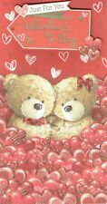 JUST FOR YOU ON VALENTINE'S DAY - Quality CARD - Valentines Bears Design