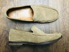 Clarks Mens Sz 8 Nubuck Suede Leather Slip On Loafers EUC! 🔥