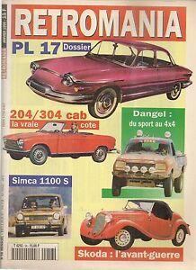 RETROMANIA 56 HISTOIRE SKODA DANGEL DAVIS 1947 PANHARD PL17 SIMCA 1100 S