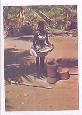 Kenya ,Winnowing Maize, A Mint Postcard, About 1980
