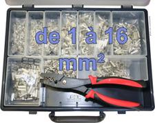 Assortiment de 4350 embouts de câble nus de 1 à 16mm² avec 1 pince à sertir