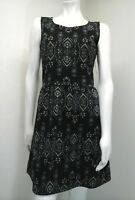 Xhilaration Women's Black Multi-Colored Floral Sleeveless Dress Size L