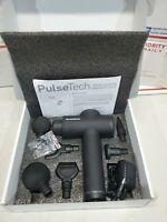 Genuine NordicTrack PulseTech Therapy Massage Gun 6 Head *FOR PARTS BAD BATTERY*