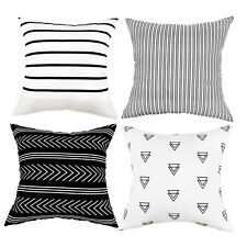 "Set of 4 Pillow Covers Stripe Pattern Throw Pillow Case Cushion Covers 18"" x 18"""