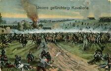 AK Militaria 1915 Unsere gefürchtete Kavallerie - Soldaten Reiter Pferde
