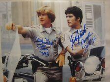 Erik Estrada & Larry Wilcox Signed CHiPs Motorcycle 11x14 Photo - JSA (WP) COA