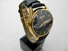 Tissot Heritage Visodate Automatic Men's Watch Black Dial Black Leather Day/Date