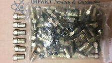 RG6 Hex Crimp Connector with Silicone and O-Ring - (100 Lot)