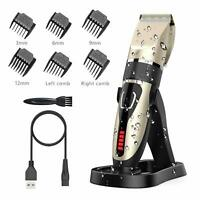 New Electric Mens Hair Clippers Beard Body Trimmer Shaver Barber Set Cutting UK