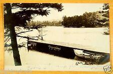 Boat Dock Blodgett's Landing Lake Sunapee NH 1907 rppc photo postcard