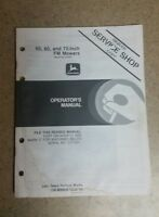 "John Deere 50"", 60"", 72"" FM Mowers Operator's Manual, OM-M89628, Issue K5"