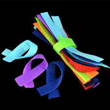 20x Reusable Cord Winder Band Nylon Cable Ties Strap Wire Fastener Organiser Neu