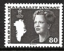 Greenland 1980 80 Ore Queen Margrethe II Mint Unhinged