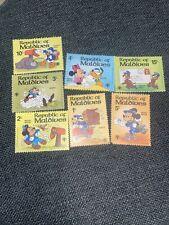 1979 Maldives Disney 7-Stamp Minnie Mickey Donald Duck Mnh
