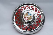 "VESPA Super VBC VBB Sportique 8"" Chrome Spare Wheel Cover Trim Red"